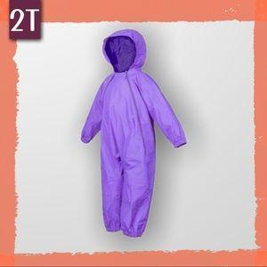 One Piece Rainsuit in Purple by Splashy! 2T
